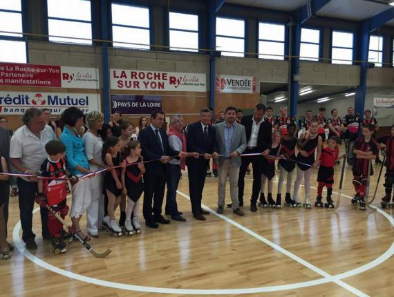 Inauguration du parquet sportif de la salle de l'Angelmière à la Roche sur Yon